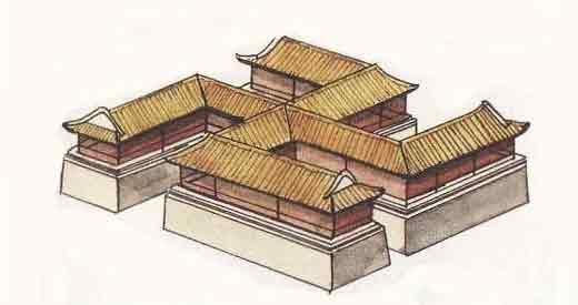 万字顶  万字顶:万即为卍,代表万事如意、万寿如疆。因其吉祥意义,常被应用于建筑平面或屋顶。 灰背顶  灰背顶:民间建筑形式,屋顶表面不用瓦覆盖,仅凭灰背密实的面层防雨防漏。大多用于平顶或囤顶建筑,但也可以用在起脊建筑上。 卷棚悬山顶  卷棚悬山顶:卷棚式屋顶可处理成硬山、悬山、歇山等形式,从而产生出卷棚硬山式、卷棚悬山式、卷棚歇山式等多种新型屋顶形式。